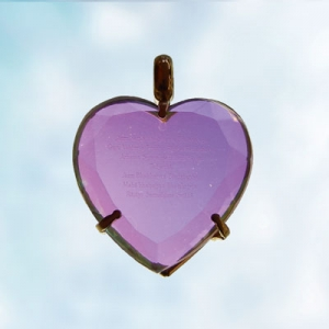 Heart Pendant 40 mm, with medicine mantra