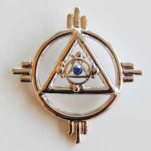 Pendant Solar symbol, silver plated (palladium), without chain