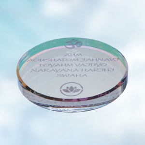 Coaster Ø 120 mm to energize water, kristall AB with water mantra